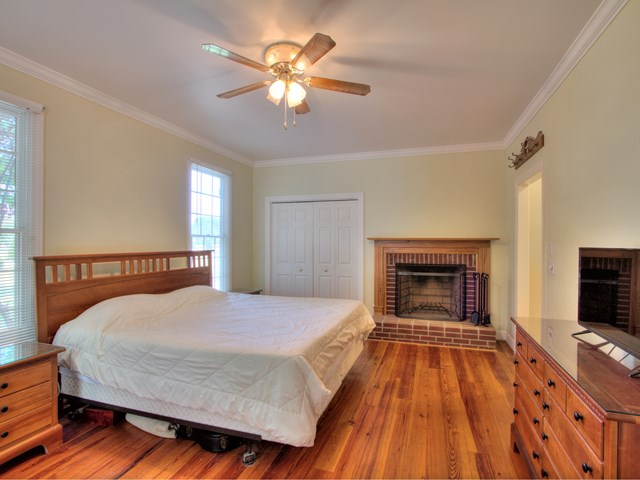 Master Bedroom with Fireplacew