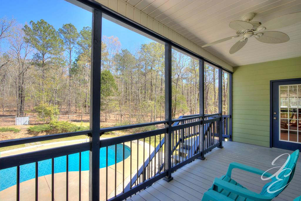 Covered Rear Deck overlooking Pool